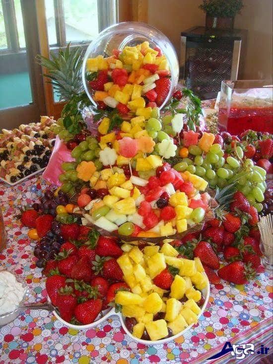 تزیین میوه ها روی میز