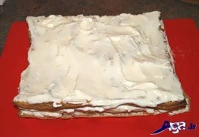 مراحل تهیه شیرینی ناپلئونی در منزل