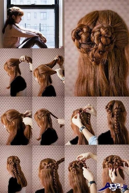 مدل بستن مو با روش های ساده