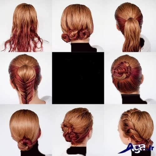 مدل های ساده برای بستن موها در خانه