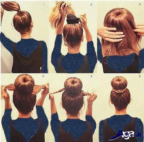 آموزش بستن مو در خانه با مدل های ساده