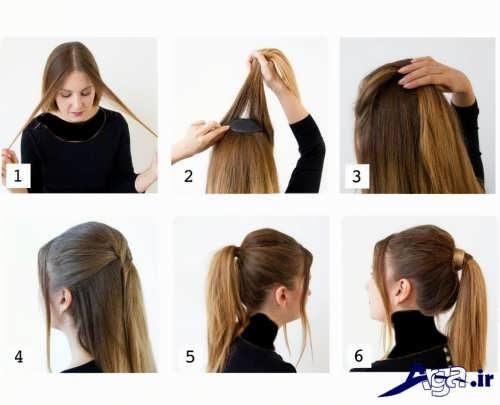 آموزش بستن موها با روش های ساده