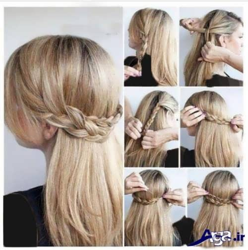 مدل بستن مو در خانه با روش های ساده و آسان