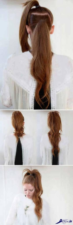 آموزش مدل موی دم اسبی