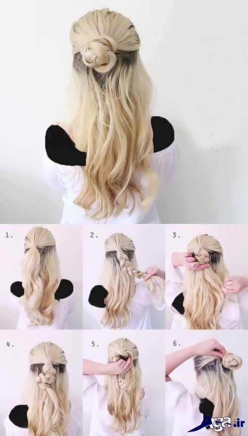 آموزش بستن مو در خانه با مدل های زیبا