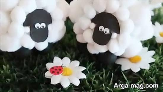 تبریک عید قربان با ساخت گوسفند