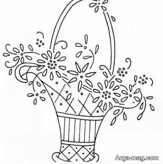 طرحی دیدنی برای گلدوزی
