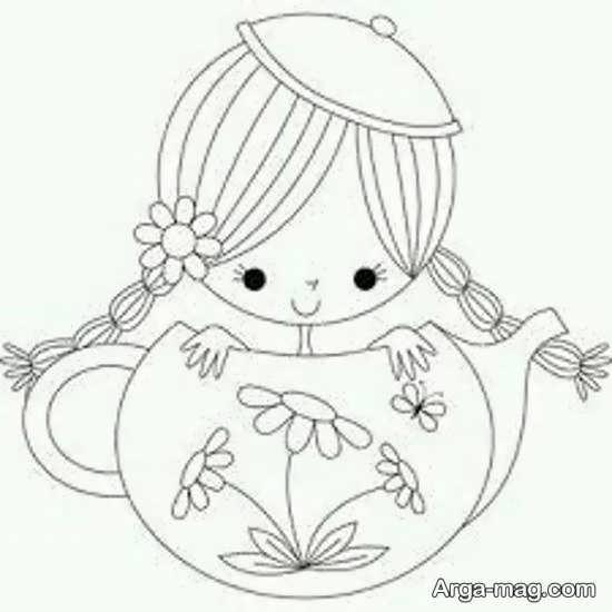 طرحی کودکانه برای گلدوزی