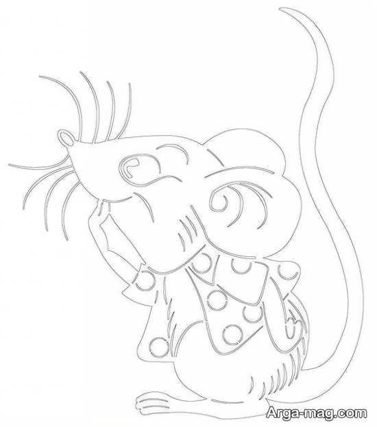 طرحی از موش برای گلدوزی