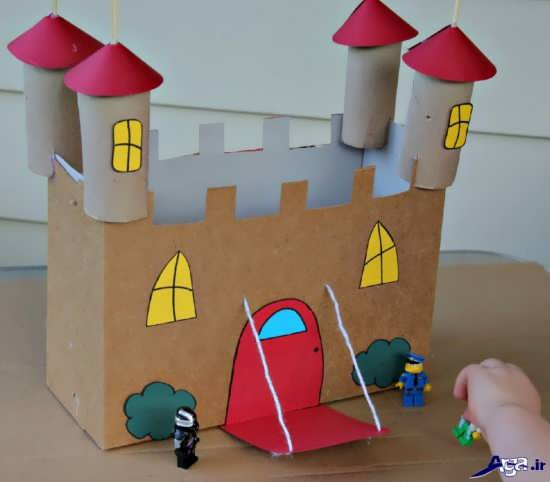 کاردستی خانه با مقوا برای کودکان