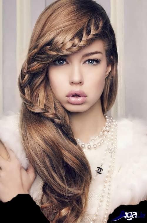 مدل موی نیمه باز دخترانه