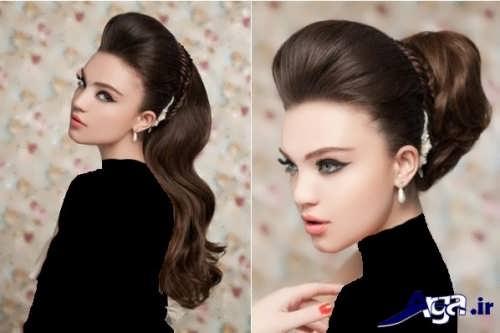 مدل موی دخترانه برای عروسی با انواع شینیون های باز و بسته