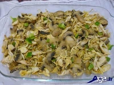مراحل طرز تهیه گراتن مرغ در خانه