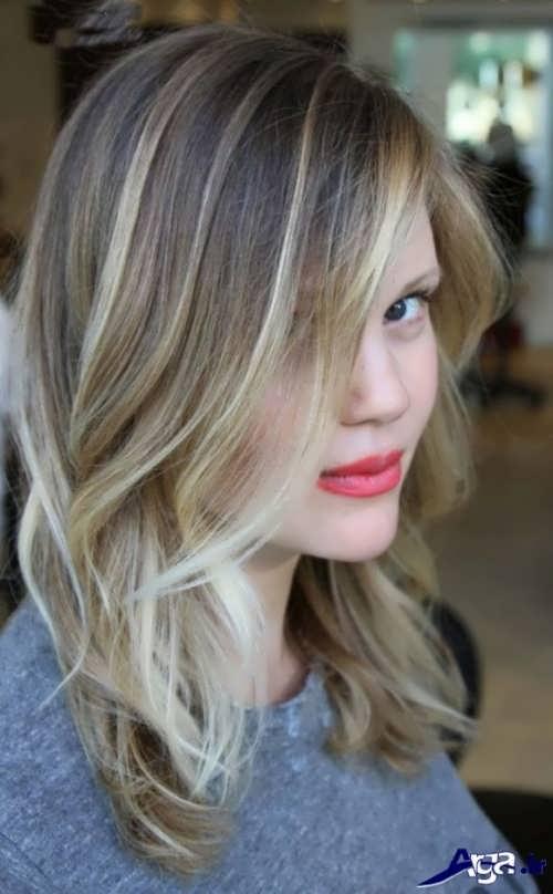 رنگ موی روشن دخترانه