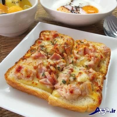 پیتزا با نان تست خوشمزه و خوش طعم