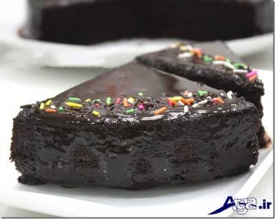 تزیین برش های کیک خیس