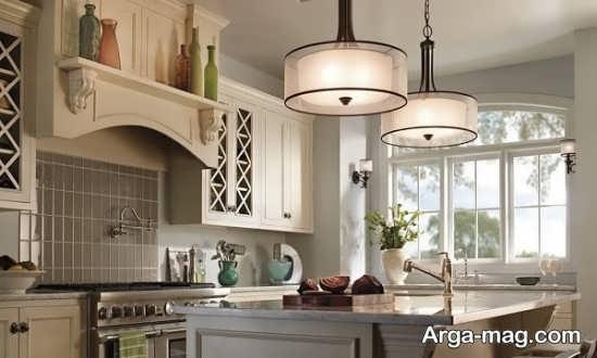 لوسترهای آشپزخانه با طرح جذاب