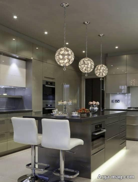 لوسترهای آشپزخانه با طرح متفاوت