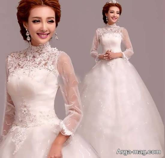 مدل شیک پیراهن عروس کره ای