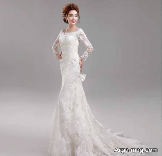 مدل جذاب پیراهن عروس کره ای