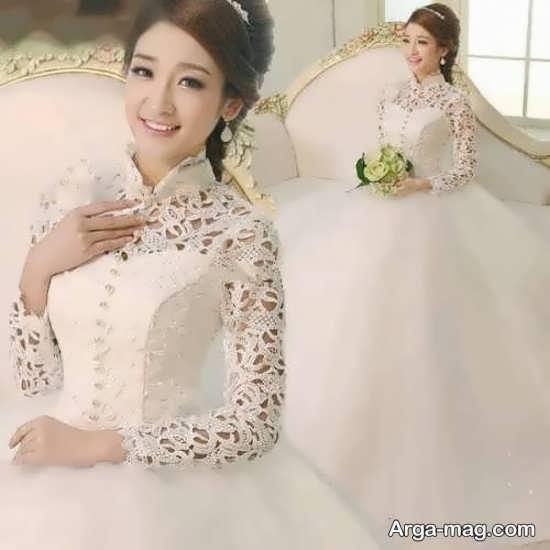 مدل پیراهن گیپور عروس کره ای