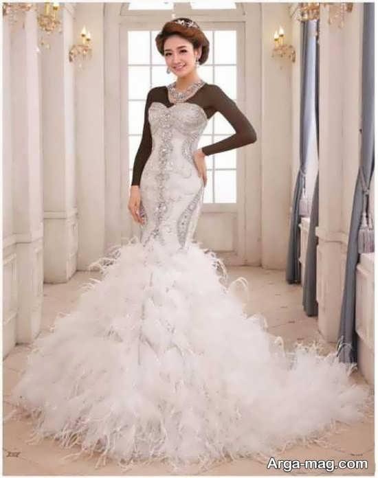 انواع مدلهای پیراهن عروس کره ای