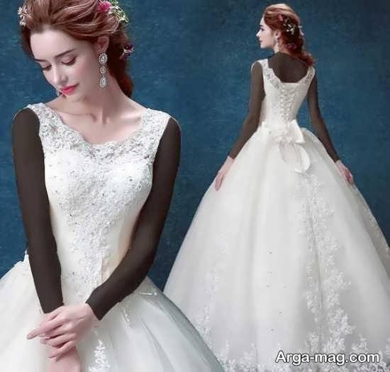 مدل پیراهن عروس کره ای زیبا