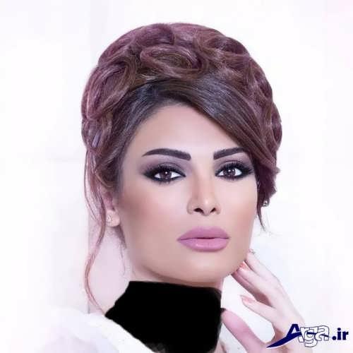 مدل آرایش عروس لبنانی