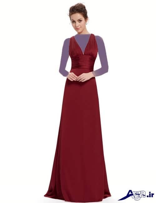 مدل لباس بلند مجلسی ساده