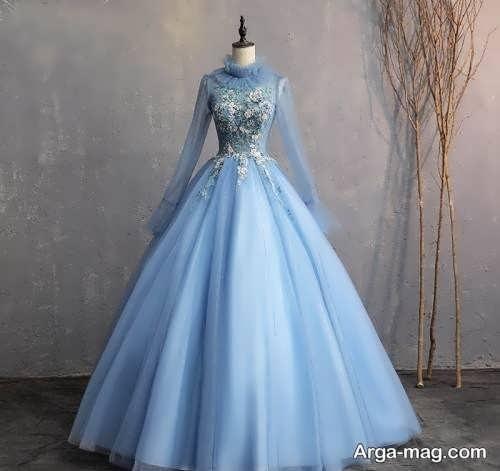 لباس مجلسی بلند با طرحی دیدنی