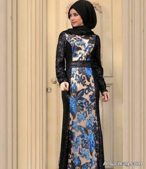 لباس مجلسی پوشیده بلند و زیبا