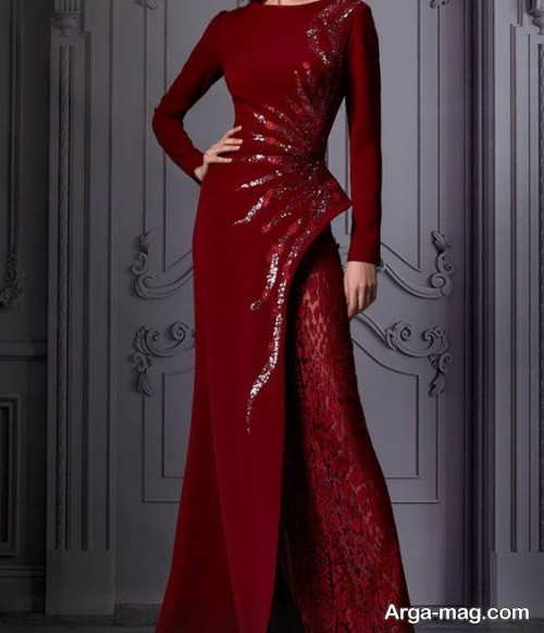 لباس مجلسی بلند با طرحی جذاب