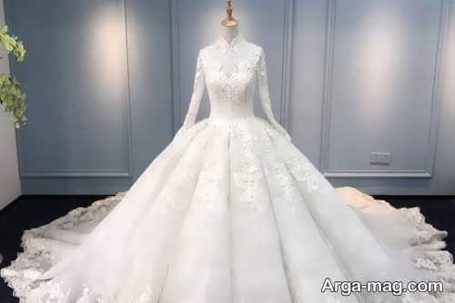مدل لباس عروس آستین بلند