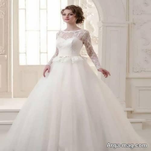 پیراهن عروس آستین بلند زیبا