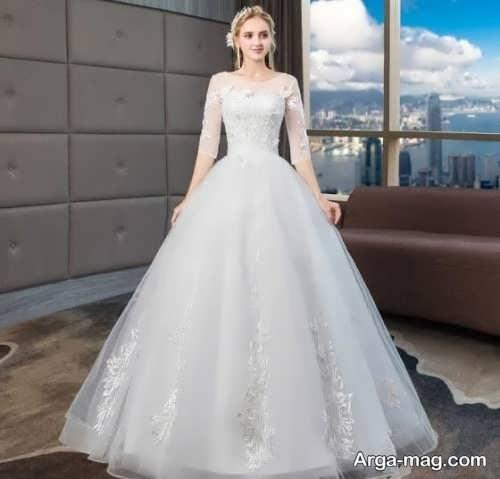 مدلهای پیراهن عروس آستین بلند
