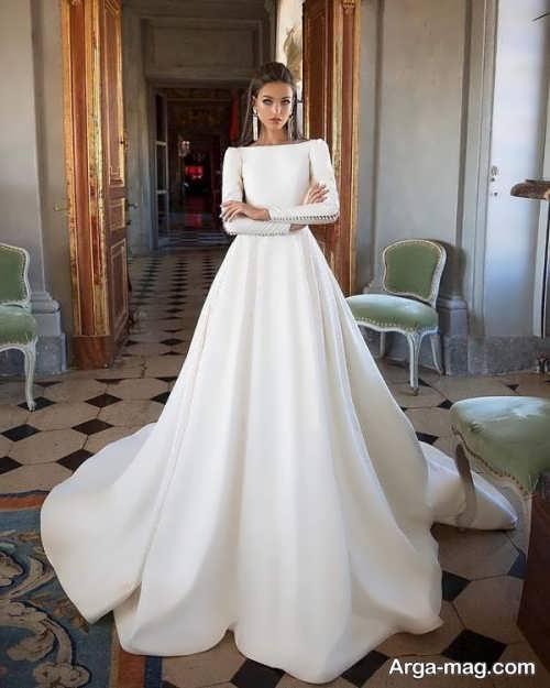 تصاویری از پیراهن عروس آستین بلند