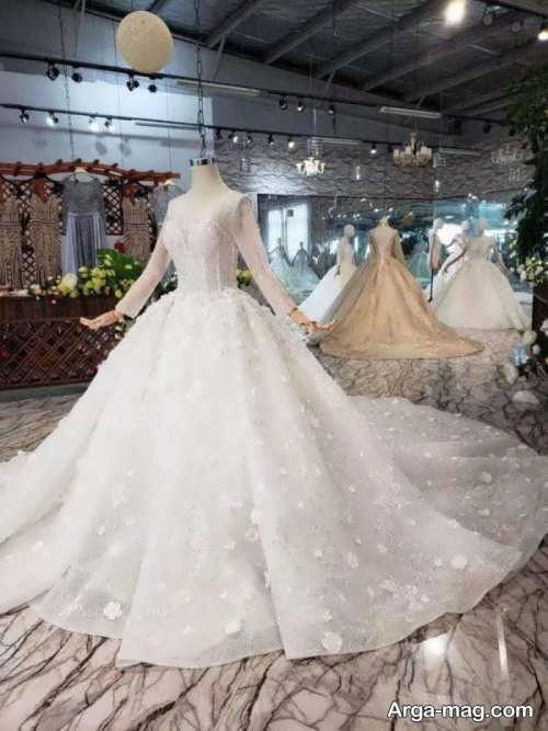 انواع پیراهن عروس آستین بلند