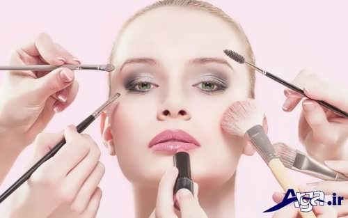 مدل های آرایش برای خانم ها با صورت گرد