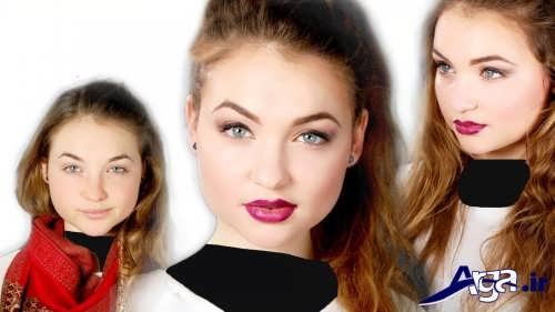 مدل آرایش برای صورت گرد دخترانه