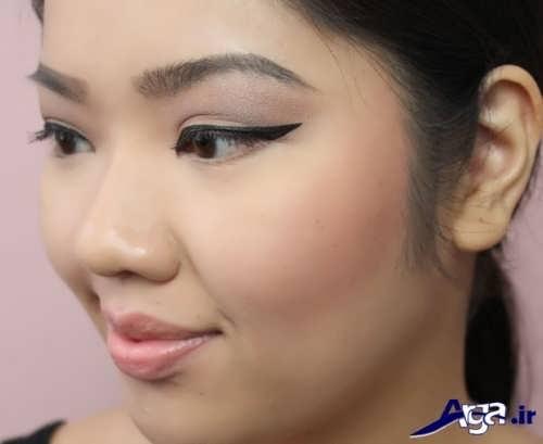 مدل آرایش دخترانه برای صورت گرد
