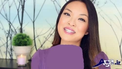 مدل آرایش زنانه برای صورت گرد