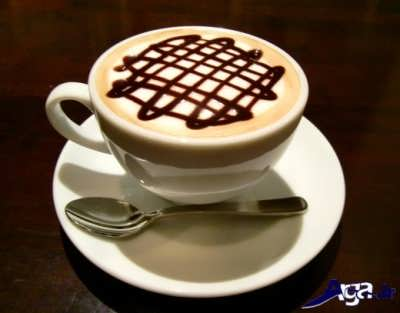 تزیین زیبا قهوه موکا