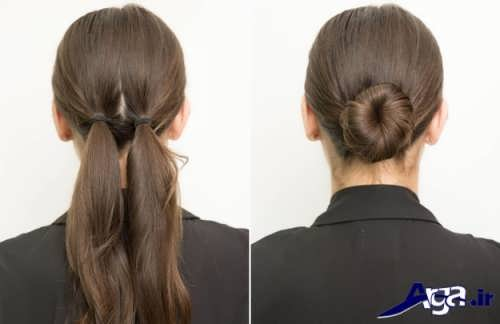 روش بستن موها در خانه