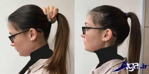 مدل موی دم اسبی ساده