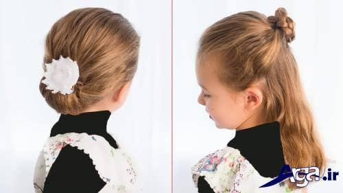 مدل بستن مو در خانه برای دختر بچه ها