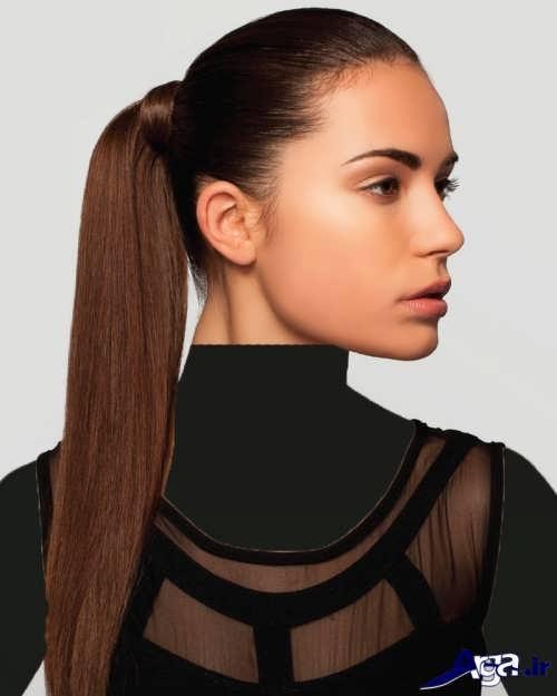 مدل موی دم اسبی ساده و زیبا