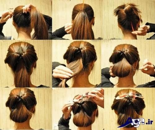مراحل بستن موها