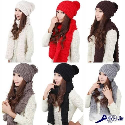 مدل شال و کلاه ساده دخترانه