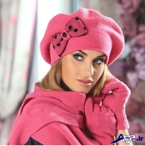 مدل شال و کلاه دخترانه زیبا