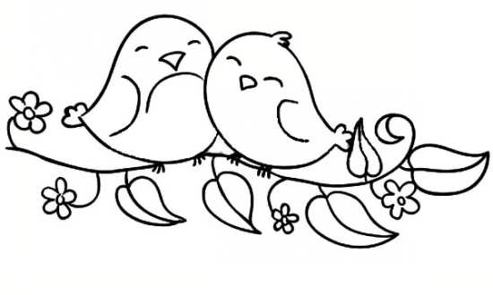 coloring pages love birds - photo#32